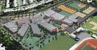 Rendered Aerial View of Campus Replacement