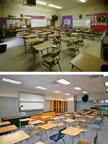 Classroom Before and After